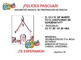 ¡FELICES PASCUAS! ENCUENTRO INFANTIL DE