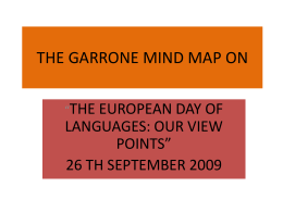 THE GARRONE MIND MAP ON