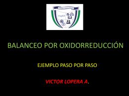 BALANCEO POR OXIDORREDUCCION