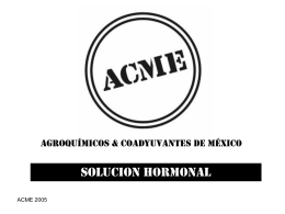 Diapositiva 1 - Agroquímicos & Coadyuvantes de