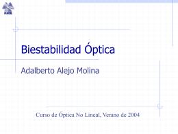 Biestabilidad Óptica - INAOE