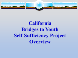 California Bridges to Youth Self