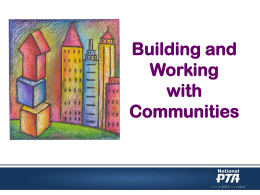 Building and Working with Communities