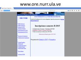 www.ore.nurr.ula.ve