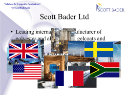Scott Bader Composites Customer presentation