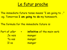 Le futur proche - The GCH Languages Blog