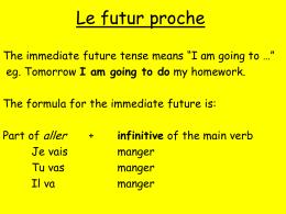 Le futur proche - The GCH Languages Blog