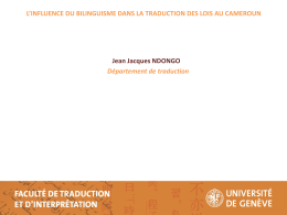 Diapositive 1 - Université de Moncton