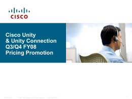 Cisco Unity Update