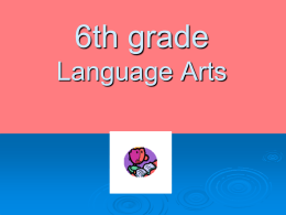 Jessica Rogers Language Arts 6th Grade
