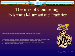 Theories of Counseling - Higher Education |