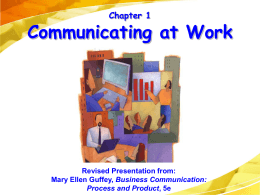 Business Communication: Process and Product, 4e