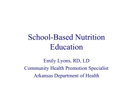 School-Based Nutrition Education