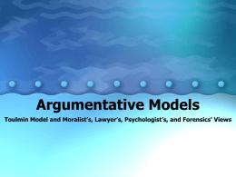 Argumentative Models