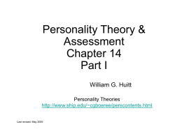 General Psychology: Personality (II)