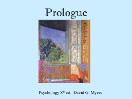 Prologue - Swampscott High School