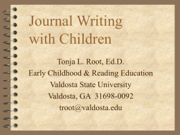 Journal Writing with Children