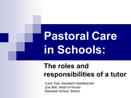 Pastoral Issues - Hom-UHT