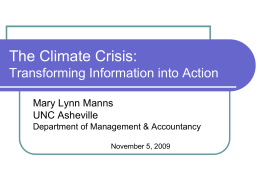 The Climate Crisis: Turning Information into