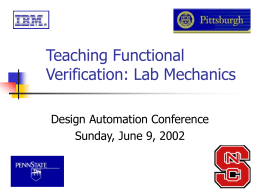 Teaching Functional Verification