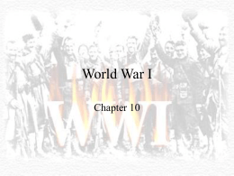 World War I - Wikispaces
