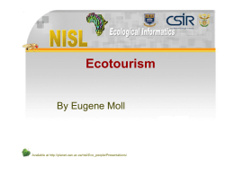 Ecotourism - The University of the Western Cape [
