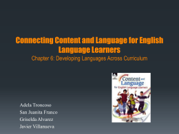 Content and Language for English Language Learners