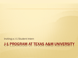 J-1 Program at Texas A&M University