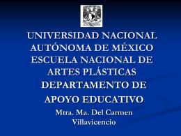 UNIVERSIDAD NACIONAL AUTÓNOMA DE MÉXICO ESCUELA