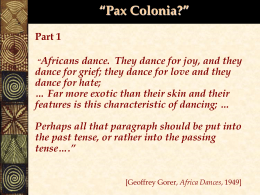 History 247-20th Century Africa