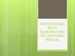 METODOLOGÍA EN LA ELABORACIÓN DEL DICTAMEN