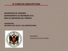 MÁSTER OFICIAL DE INGENIERÍA GEOLÓGICA