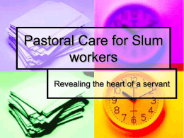 Pastoral Care for Slum workers