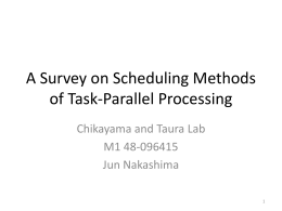 A survey on Task-Parallel Languages and techniques
