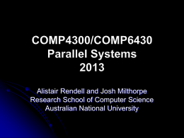 COMP3320/COMP6464 High Performance Scientific