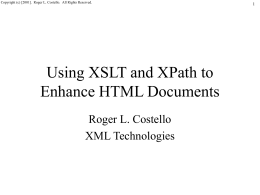 Tutorial on XSL