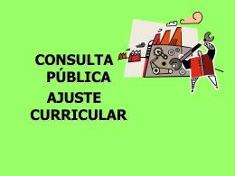 Presentación General Ajuste Curricular
