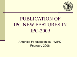 IPC-2009 New Features