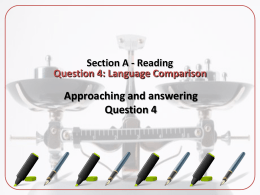 Section A - Reading Question 1: Retrieval