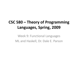 CSC 552.201 - Advanced Unix Programming, Fall,