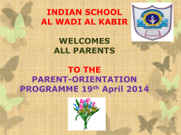CCE - Indian School, Al Wadi Al Kabir