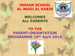 CCE - Indian School, Al Wadi Al Kabir