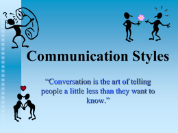 Communication Styles - Utah Education Network