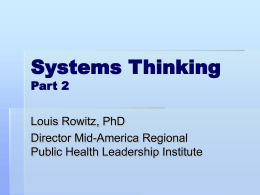 Sytems Thinking - University of Illinois at