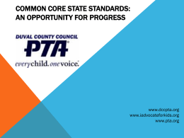 Common Core State Standards: An Opportunity for