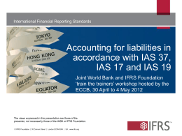 IAS 17 Leases - IFRS Foundation