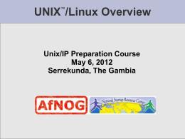 UNIX™/Linux Overview