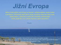 Jižní Evropa - Digitální učební materiály RVP
