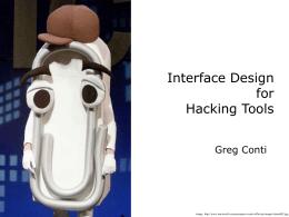 Hacking GUIs