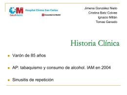 Caso clínico – Sesión interhospitalaria ARC Junio